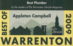 2009 Warrenton Lifestyle Magazine Best of Plumbers